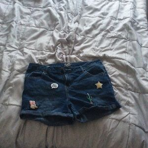 Justice Shorts With Patches